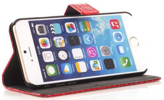 Кожаный чехол-книжка Crocodile для Apple iPhone 6/6s (4.7