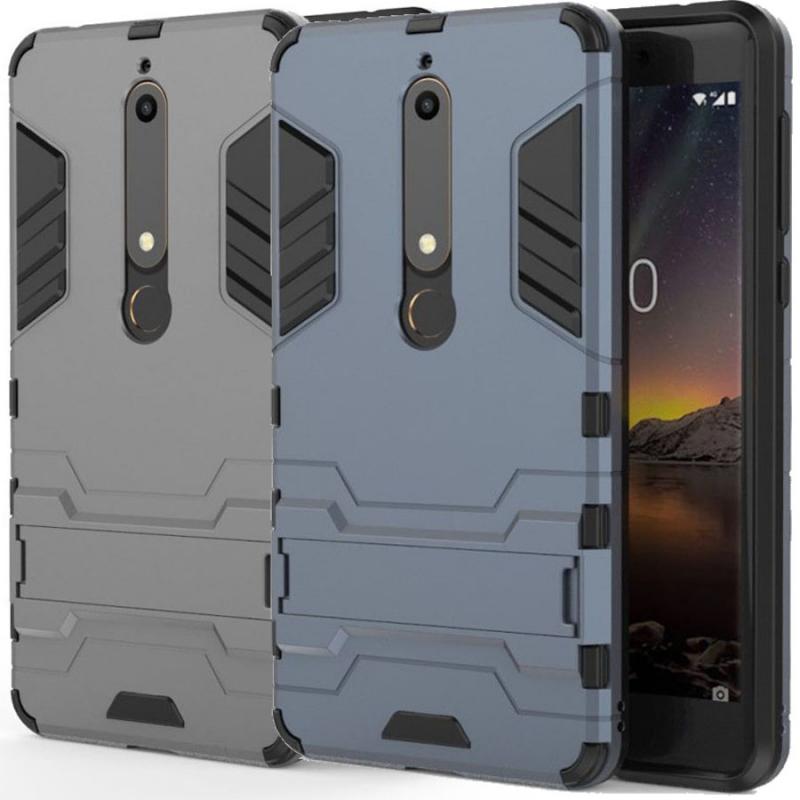 Ударопрочный чехол-подставка Transformer для Nokia 6.1 с мощной защитой корпуса
