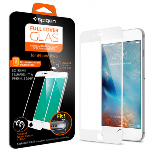 SGP Screen Protector Full Cover Glass Series для Apple iPhone 6/6s (4.7
