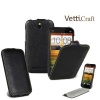 Кожаный чехол (флип) Vetti Craft для HTC One SV
