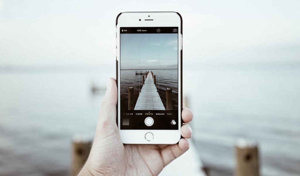 Как сделать фото с датой на iphone