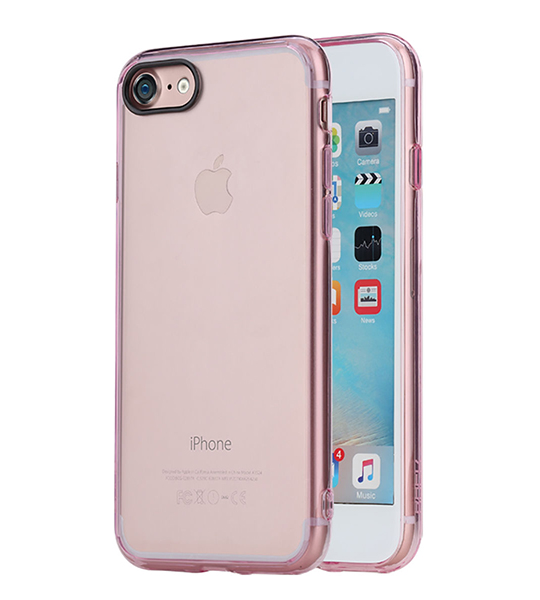 Купить TPU+PC чехол Rock Pure Series для Apple iPhone 7 (4.7 ) Розовый / Transparent pink