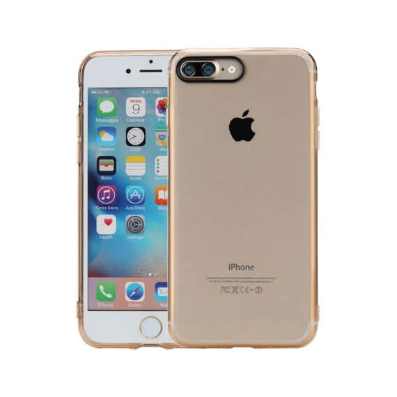 Купить TPU+PC чехол Rock Pure Series для Apple iPhone 7 plus (5.5 ) Золотой / Transparent Gold
