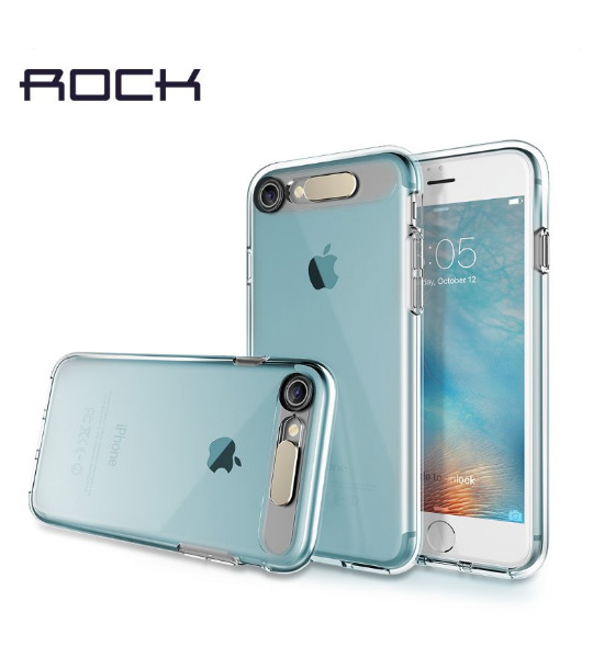 Купить Светящийся TPU чехол ROCK Tube Series для Apple iPhone 7 (4.7 ) Синий / Transparent Blue
