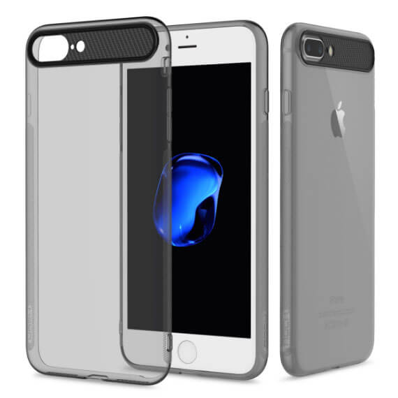 Купить TPU+PC чехол Rock Ace Series для Apple iPhone 7 (4.7 ) Черный / Transparent black