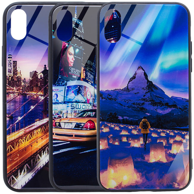 "TPU+Glass чехол Night series для Apple iPhone XR (6.1"")"