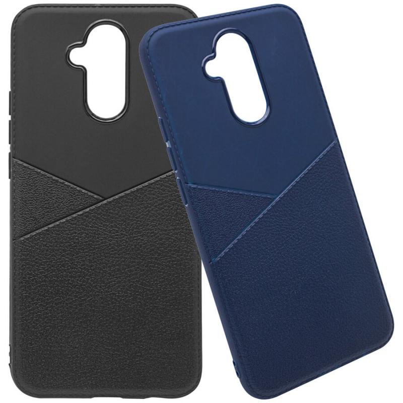 TPU чехол с имитацией кожи Leather Half для Huawei Mate 20 lite