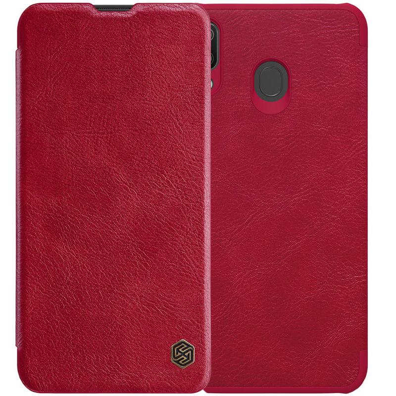 Кожаный чехол (книжка) Nillkin Qin Series для Samsung Galaxy M20