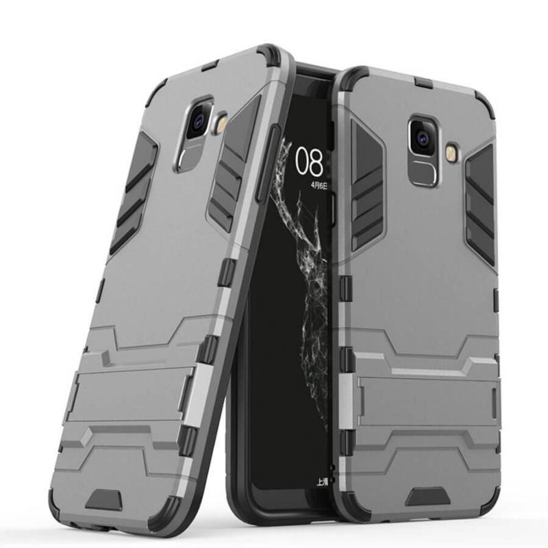 Ударопрочный чехол-подставка Transformer для Samsung Galaxy A6 (2018) с мощной защитой корпуса