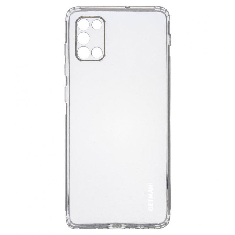 TPU чехол GETMAN Clear 1,0 mm для Samsung Galaxy A31