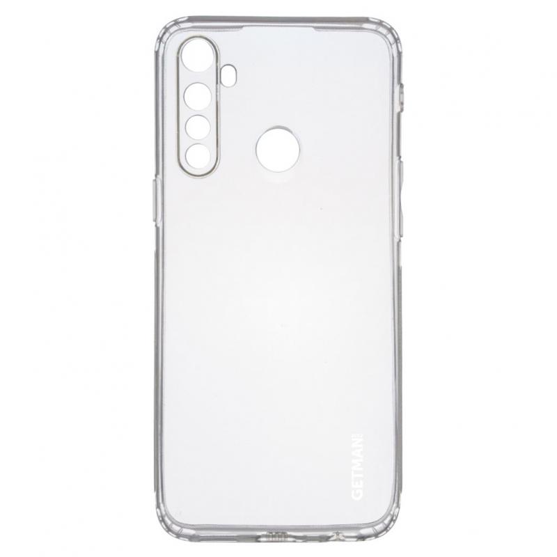 TPU чехол GETMAN Clear 1,0 mm для Realme 5 / 6i