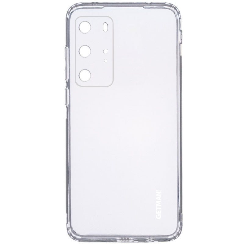 TPU чехол GETMAN Clear 1,0 mm для Huawei P40 Pro