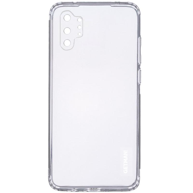 TPU чехол GETMAN Clear 1,0 mm для Samsung Galaxy Note 10 Plus