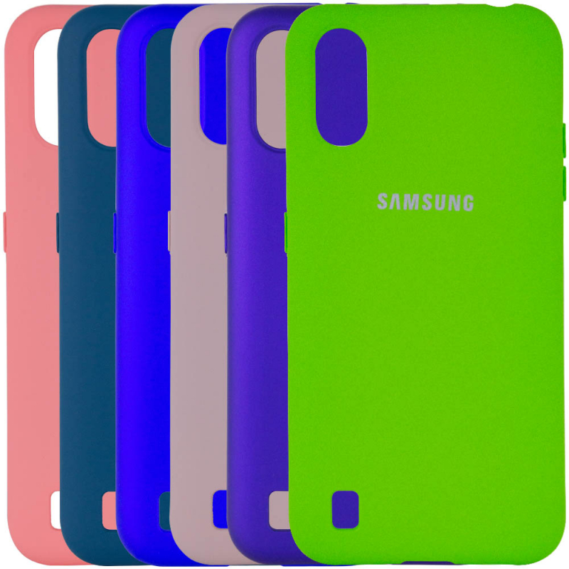 Чехол Silicone Cover Full Protective (A) для Samsung Galaxy A01