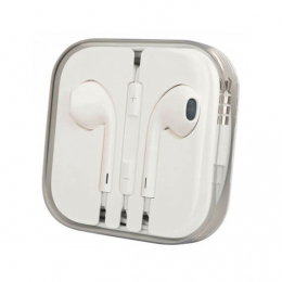 Наушники Apple EarPods с пультом дистанционного управления и микрофоном (high copy)