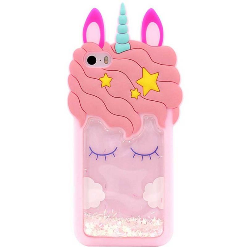 Силиконовый чехол Unicorn 3D для Apple iPhone 5/5S/SE