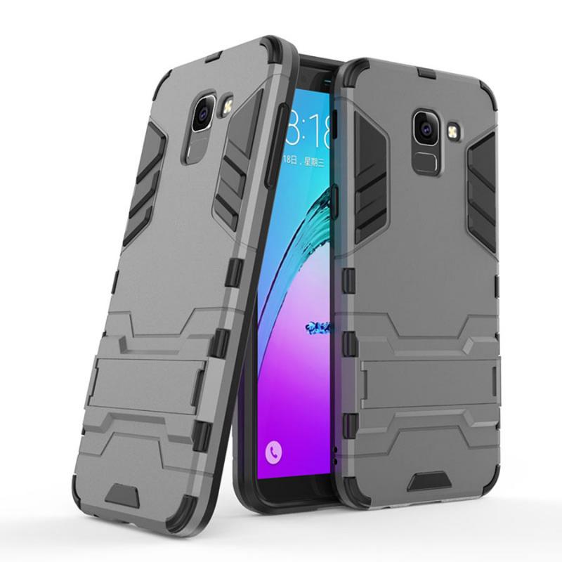 Ударопрочный чехол-подставка Transformer для Samsung J600F Galaxy J6 (2018) с мощной защитой корпуса