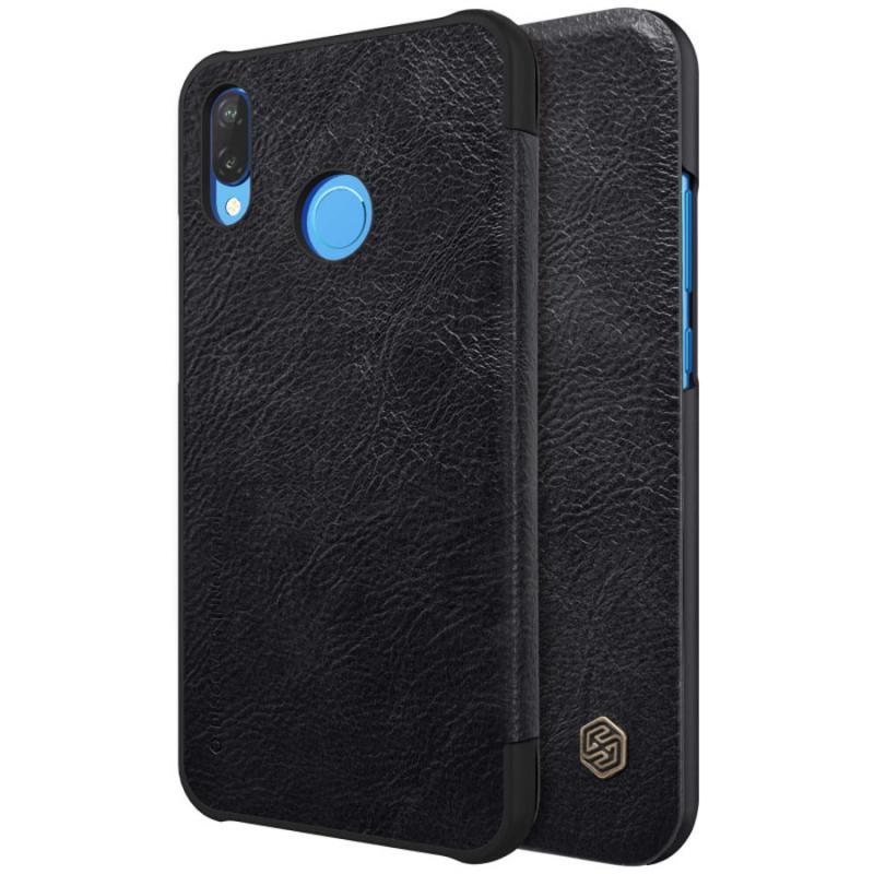 Кожаный чехол (книжка) Nillkin Qin Series для Huawei P20 Lite