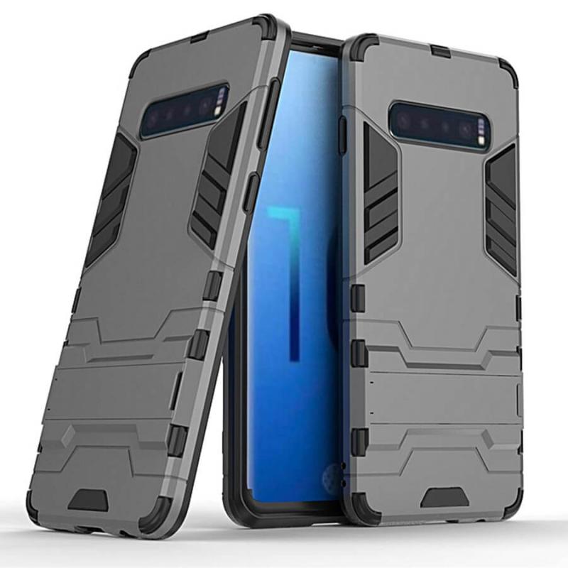 Ударопрочный чехол-подставка Transformer для Samsung Galaxy S10 с мощной защитой корпуса