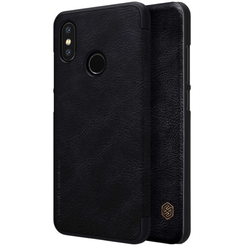 Кожаный чехол (книжка) Nillkin Qin Series для Xiaomi Mi 8