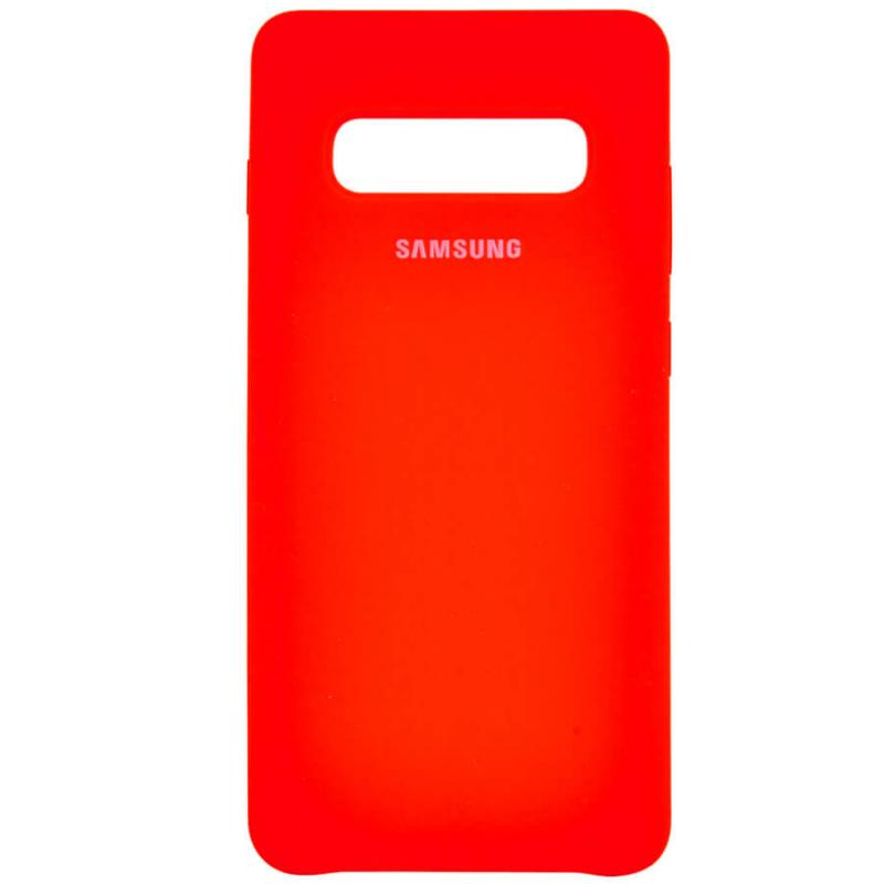 Чехол Silicone case (AAA) для Samsung Galaxy S10+