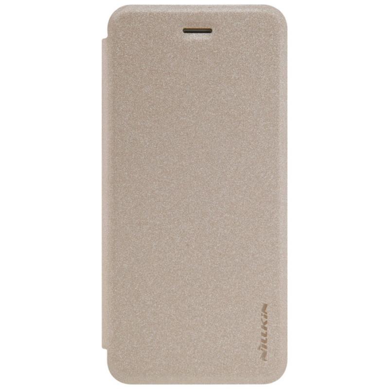 Кожаный чехол (книжка) Nillkin Sparkle Series для Motorola Moto G7 Power