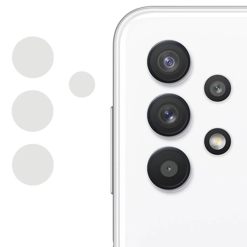 Гибкое защитное стекло 0.18mm на камеру (тех.пак) для Samsung Galaxy A72 4G / A72 5G