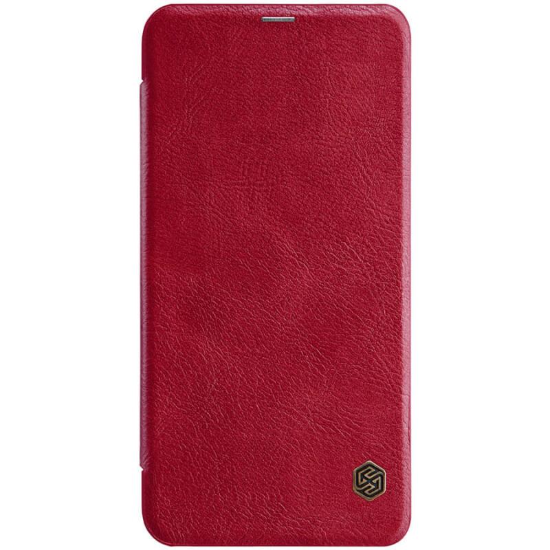 Кожаный чехол (книжка) Nillkin Qin Series для Xiaomi Mi Note 10