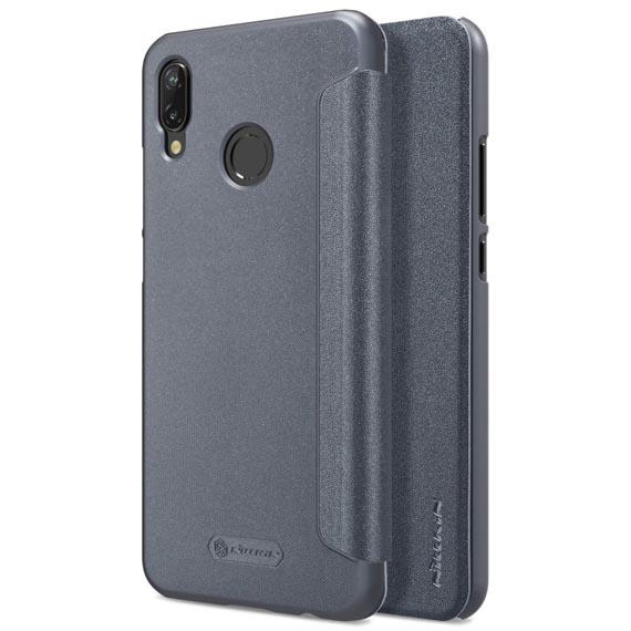 Кожаный чехол (книжка) Nillkin Sparkle Series для Huawei P20 Lite