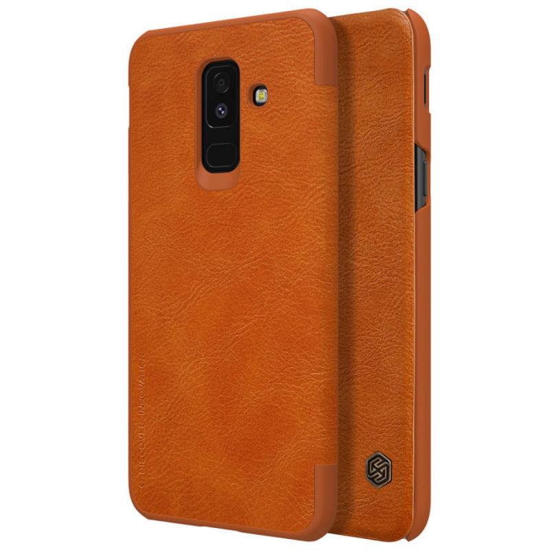 Кожаный чехол (книжка) Nillkin Qin Series для Samsung Galaxy A6 Plus (2018)