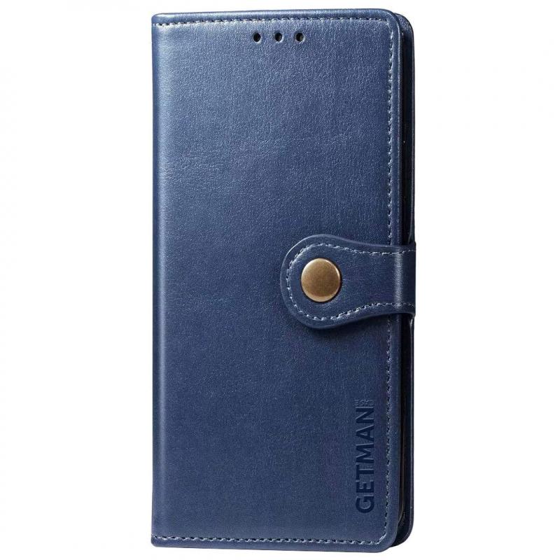 Кожаный чехол книжка GETMAN Gallant (PU) для Xiaomi Redmi Note 9 5G / Note 9T