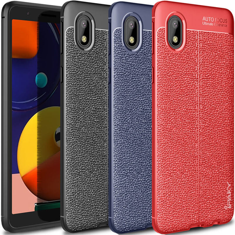 TPU чехол iPaky Litchi Series для Samsung Galaxy M01 Core / A01 Core