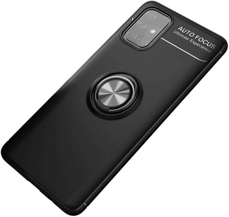 TPU чехол Deen ColorRing под магнитный держатель (opp) для Samsung Galaxy A52 4G / A52 5G