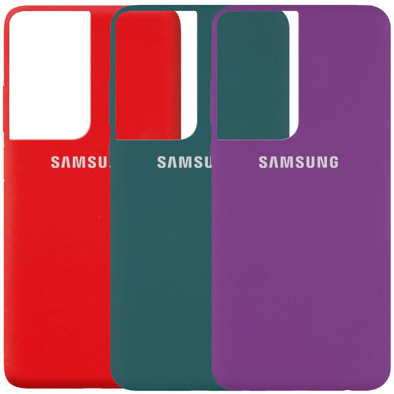 Чехол Silicone Cover (AA) для Samsung Galaxy S21 Ultra