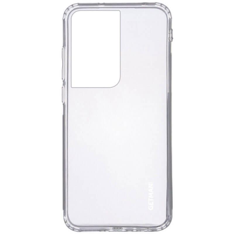 TPU чехол GETMAN Clear 1,0 mm для Samsung Galaxy S21 Ultra