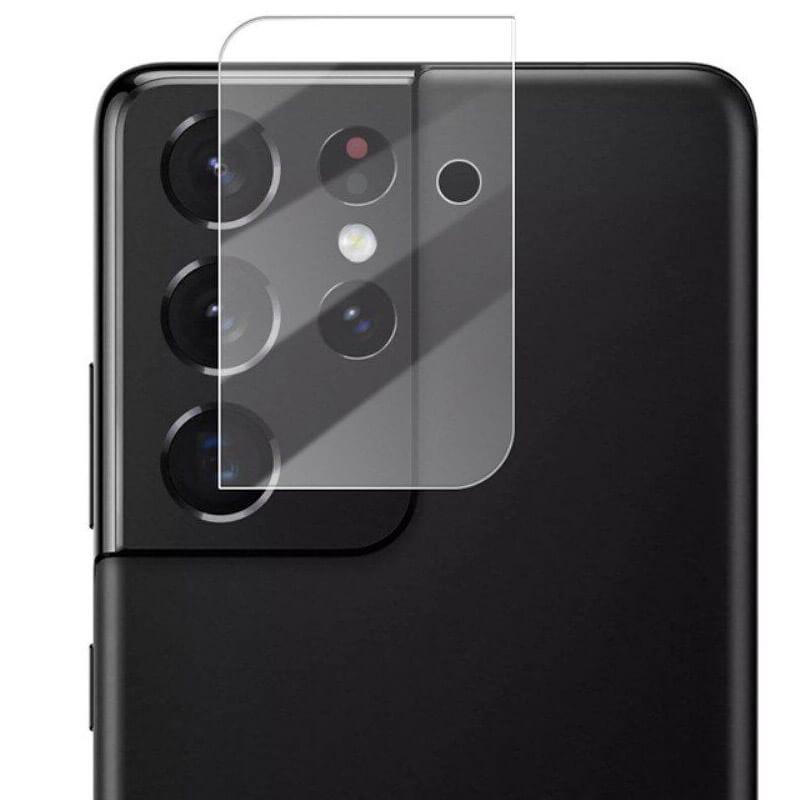 Гибкое защитное стекло 0.18mm на камеру (тех.пак) для Samsung Galaxy S21 Ultra