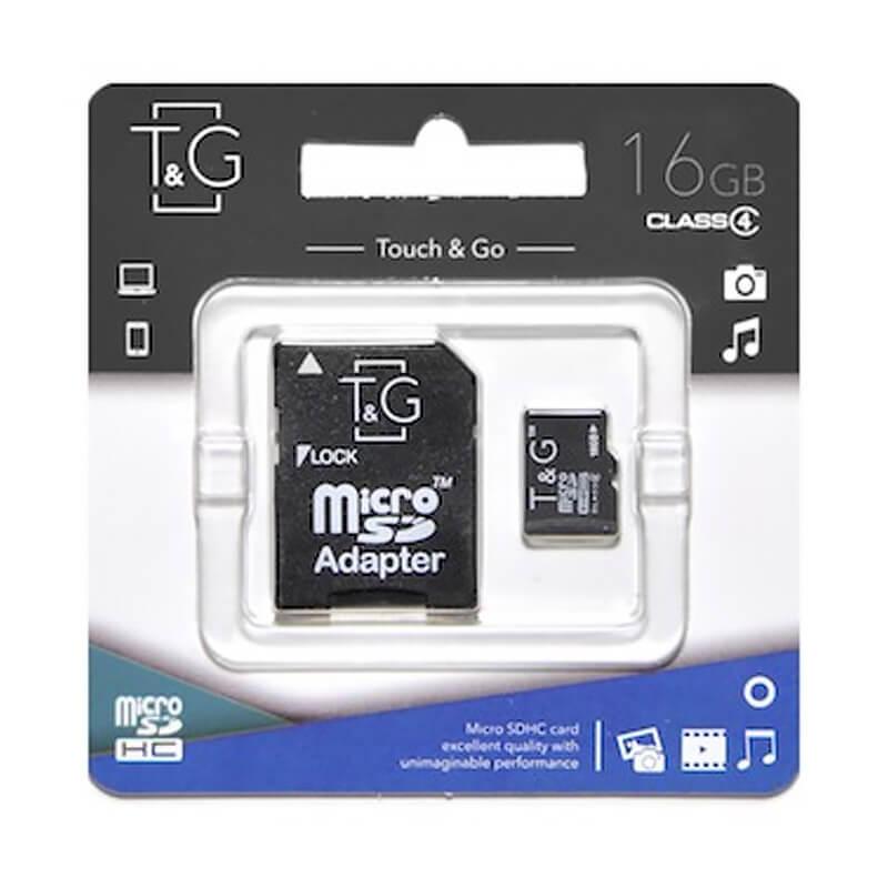 Карта памяти T&G microSDHC 16GB class 4 (с адаптером)