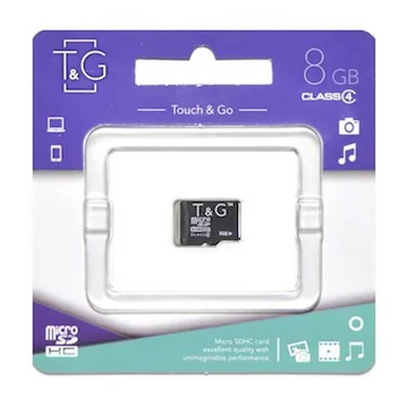 Карта памяти T&G microSDHC 8GB class 4 (без адаптера)
