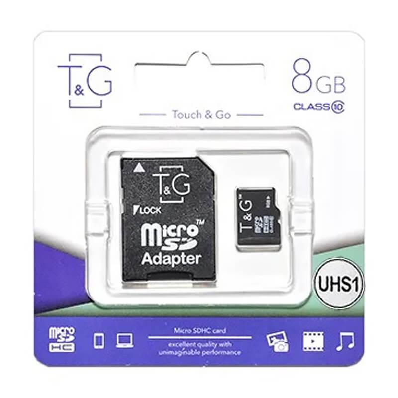 Карта памяти T&G microSDHC (UHS-1) 8 GB class 10 (с адаптером)