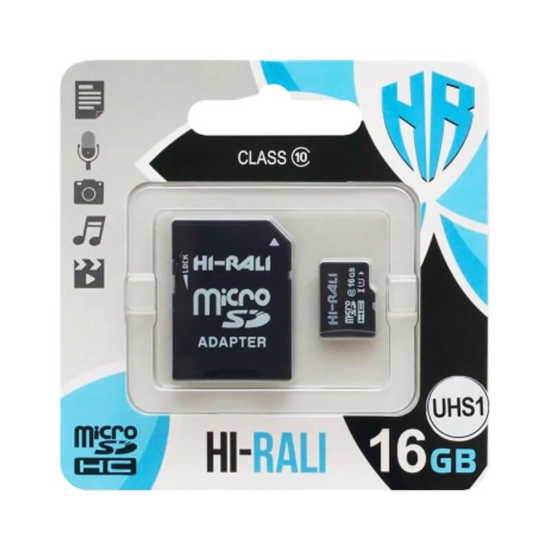 Карта памяти Hi-Rali microSDHC (UHS-1) 16 GB class 10 (с адаптером)