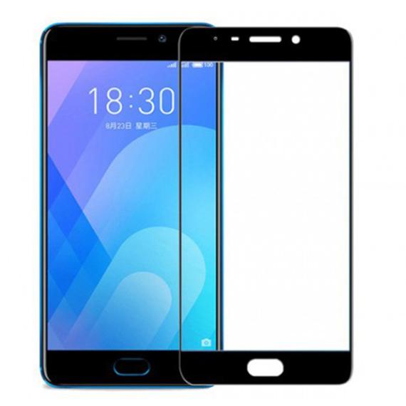 Защитное цветное стекло Mocolo (full glue) на весь экран для Meizu M5s