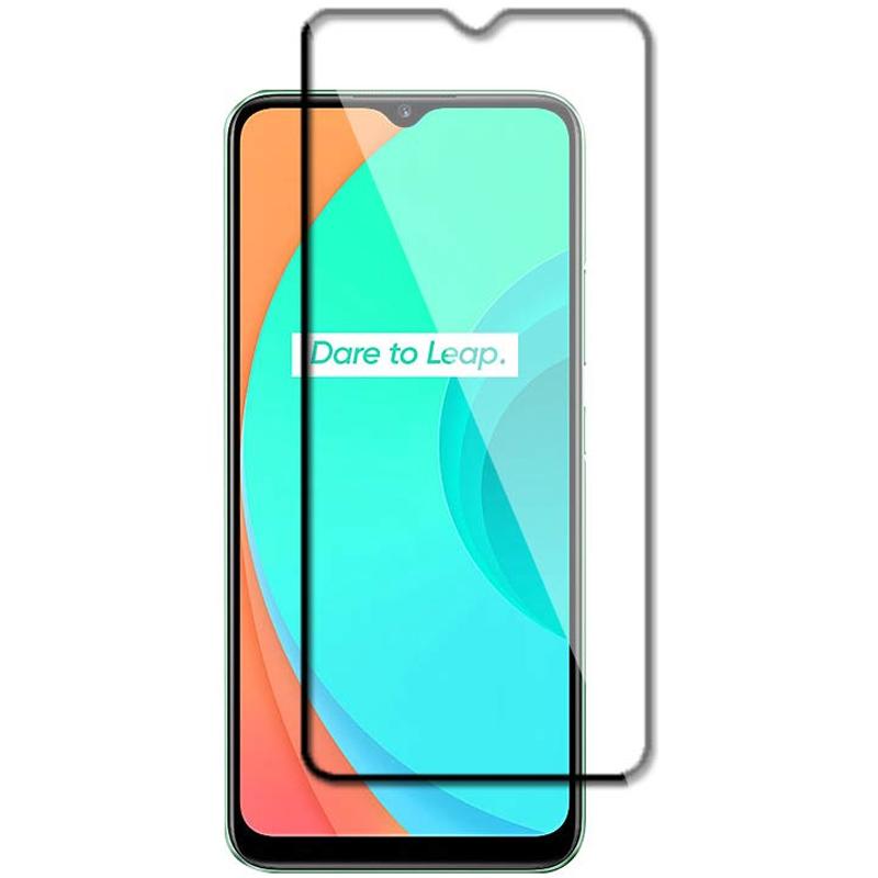 Защитное стекло XD+ (full glue) (тех.пак) для Realme C11
