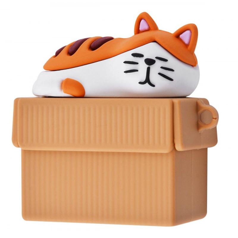 Силиконовый футляр Sleeping Cat для наушников Airpods