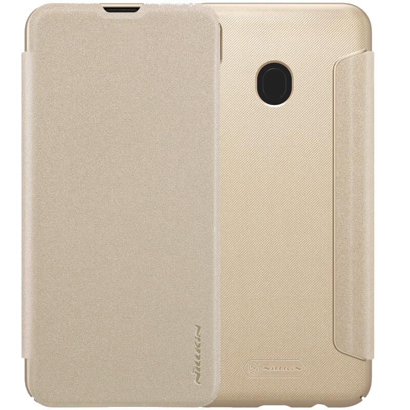 Кожаный чехол (книжка) Nillkin Sparkle Series для Samsung Galaxy M20
