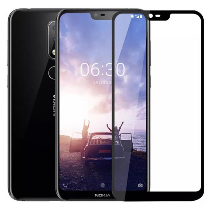 Защитное цветное стекло Mocolo (CP+) на весь экран для Nokia 6.1 Plus (Nokia X6)