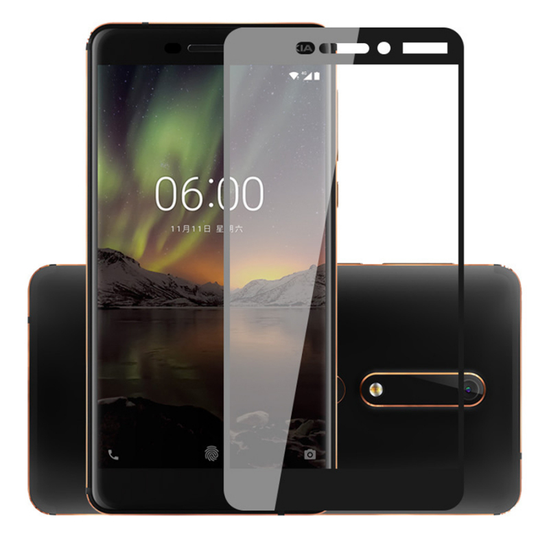 Защитное цветное стекло Mocolo (full glue) на весь экран для Nokia 6.1