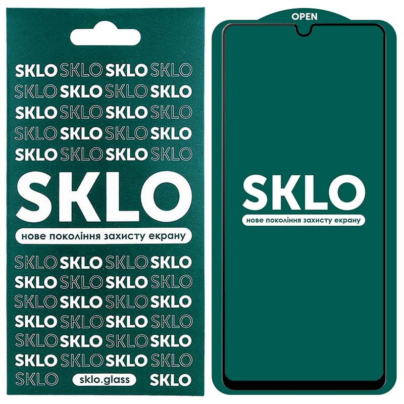 Защитное стекло SKLO 5D (full glue) для Samsung Galaxy A52 4G / A52 5G