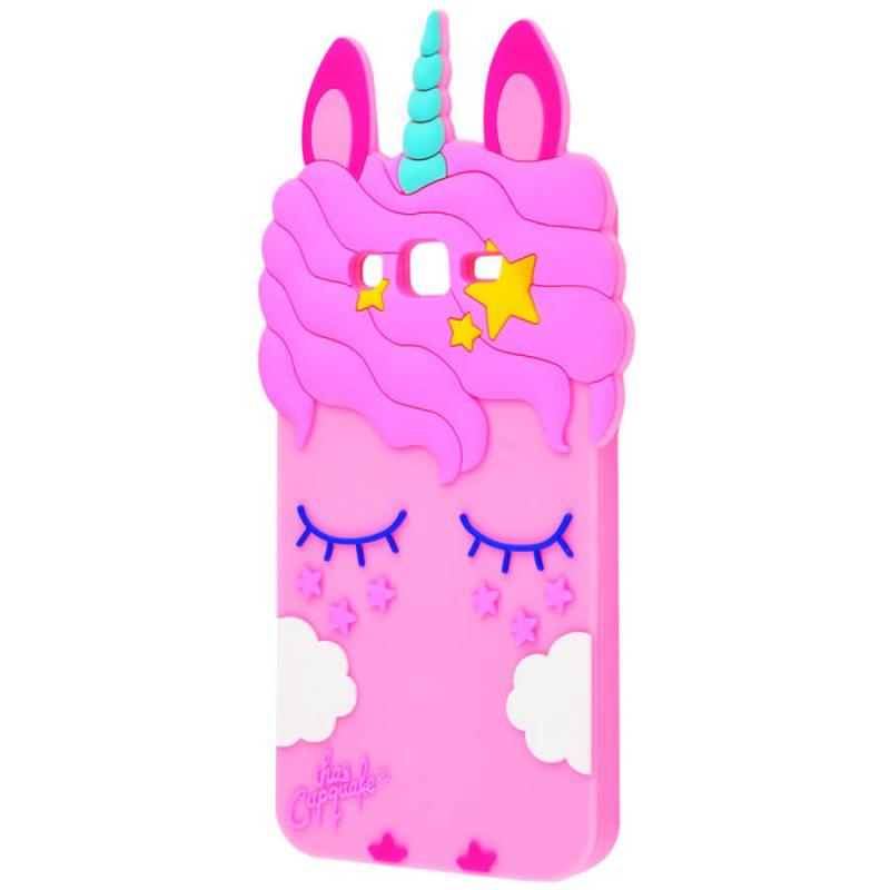 Силиконовая накладка 3D Little Unicorn для Samsung J710F Galaxy J7 (2016)