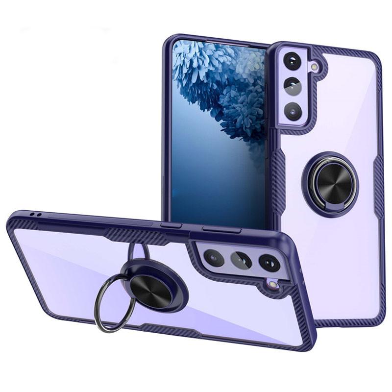 TPU+PC чехол Deen CrystalRing for Magnet (opp) для Samsung Galaxy S21+