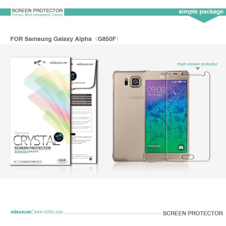 Защитная пленка Nillkin Crystal для Samsung G850F Galaxy Alpha
